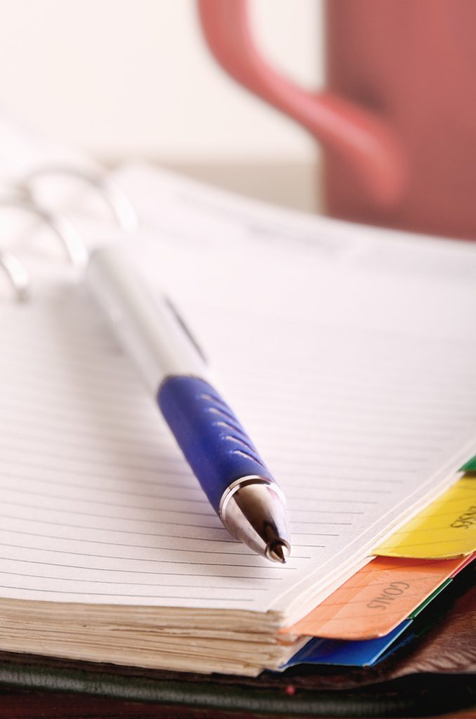 pens, notebooks, papers